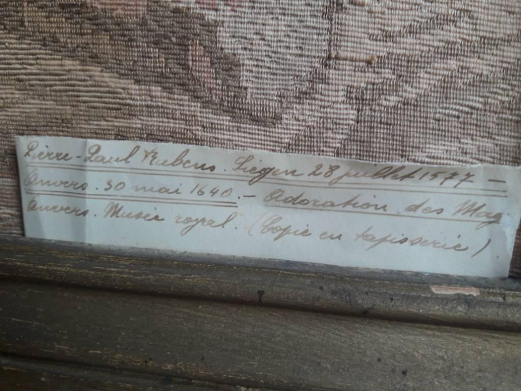Copie en tapisserie de l'adoration des mages de Pierre-Paul Rubens | Puces Privées