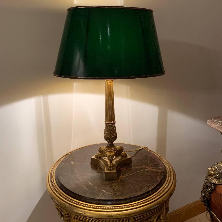 Lampe en bronze | Puces Privées