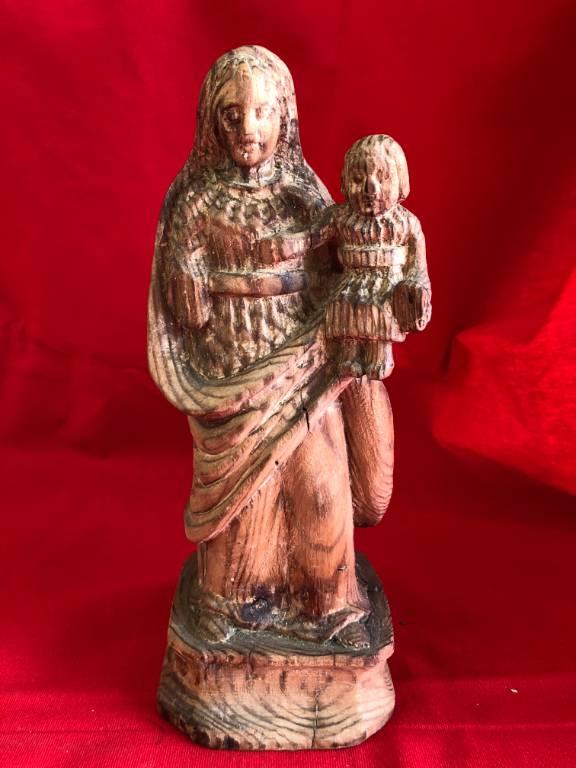 Vierge à l'enfant bois | Puces Privées
