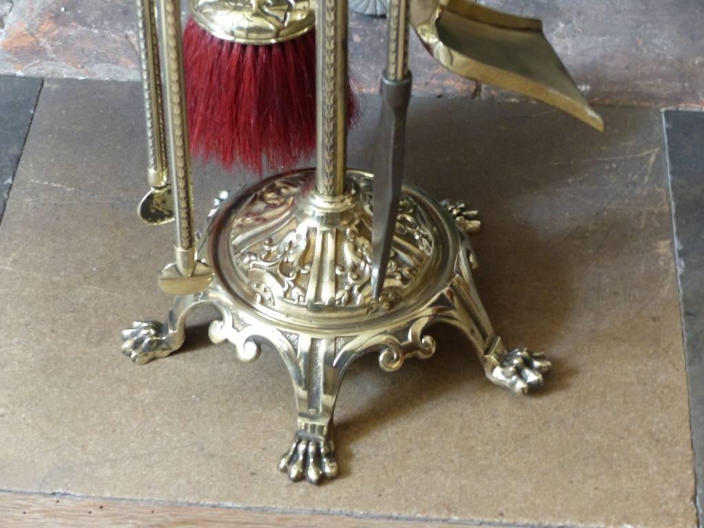 No - 401 - Serviteur de cheminée en bronze 19 ème | Puces Privées
