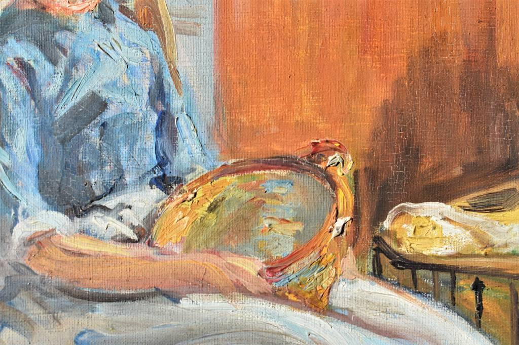 La jeune hollandaise,  Yvonne BRUDO, huile sur toile signée et encadrée, vers 1950 | Puces Privées
