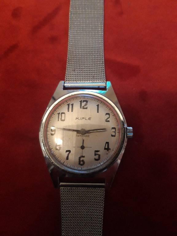 ancienne montre mécanique KIPLE antichoc   Puces Privées