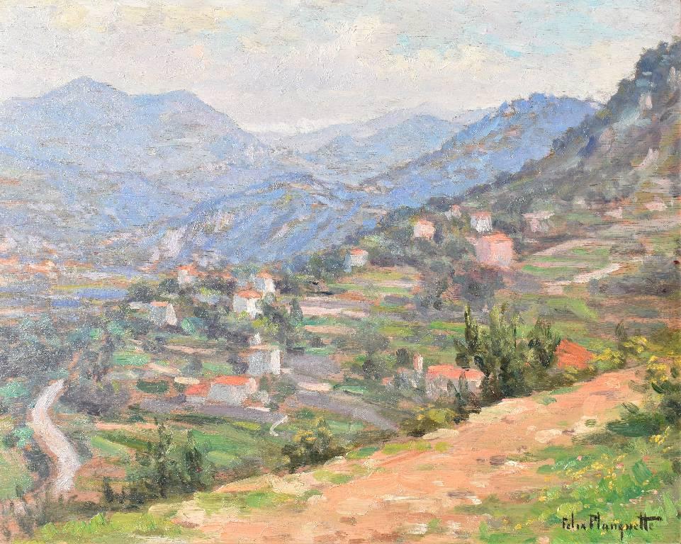 Vue du mont Boron, environs de Nice par Felix Planquette (1873-1964), vers 1900 | Puces Privées