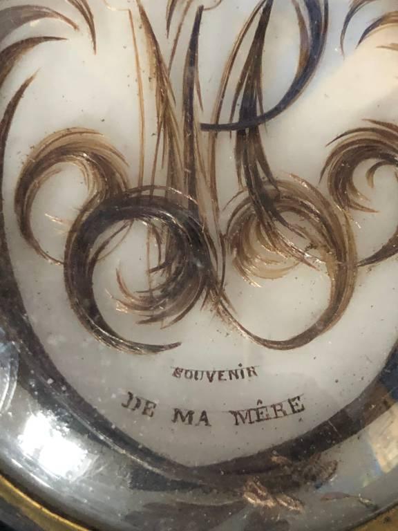 Cadre souvenir cheveux | Puces Privées