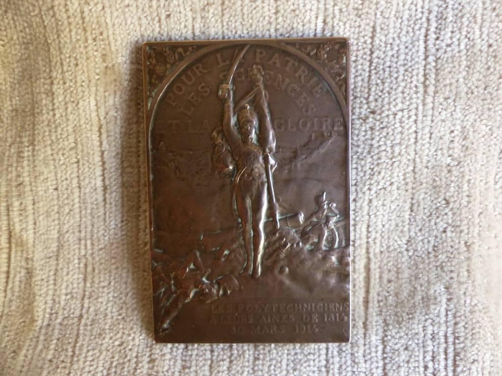 No - 411 - Médaille . Les polytechniciens à leurs aînés  1814 - 1914 | Puces Privées
