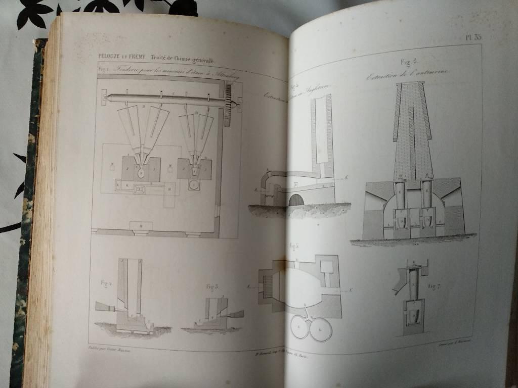 Traité de chimie par J. PELOUZE et E. FREMY DEUXIÈME EDITION 1855 | Puces Privées