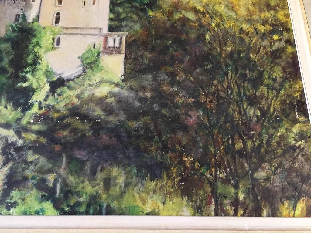Huile sur toile Louis HAUTEVILLE   Puces Privées