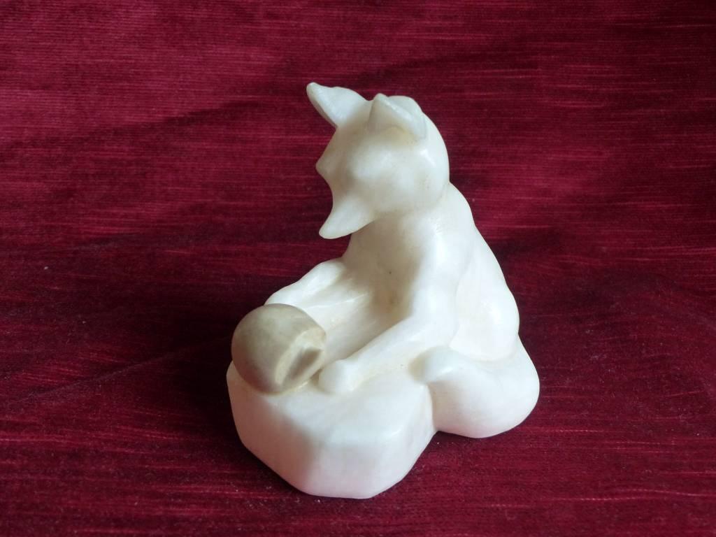 No - 418 - Sculpture animalière en albâtre   Puces Privées