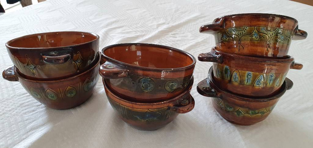 BOLS Céramique provençale 7 pièces signé Lanusé | Puces Privées