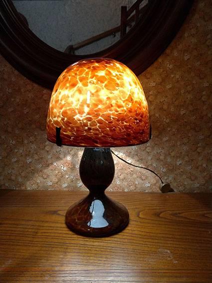 Lampe pate de verre   Puces Privées
