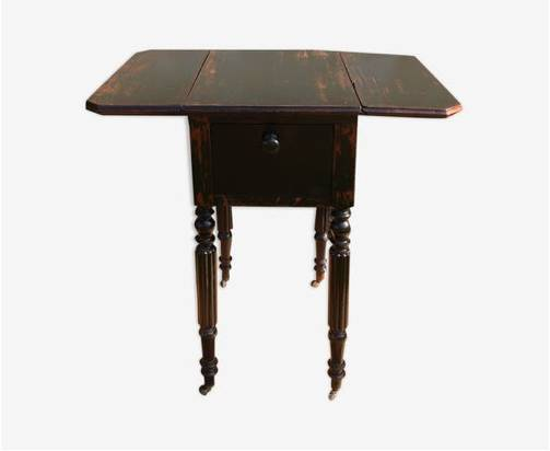 Petite table d'appoint 2 rallonges pliantes | Puces Privées