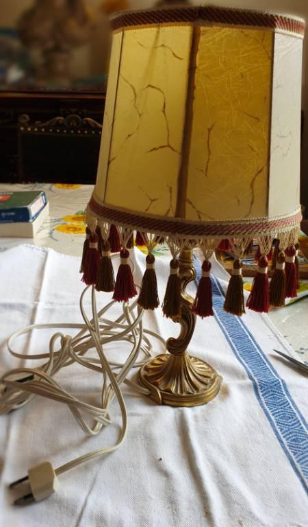 #22 - Lampe ancienne avec abat jour | Puces Privées