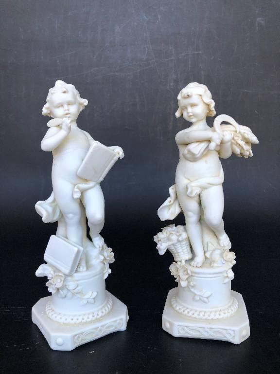 Ancienne paire de biscuit Muller signés | Puces Privées