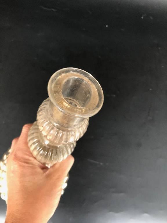 Ancien grand bougeoir en verre mercurisé 19ème | Puces Privées