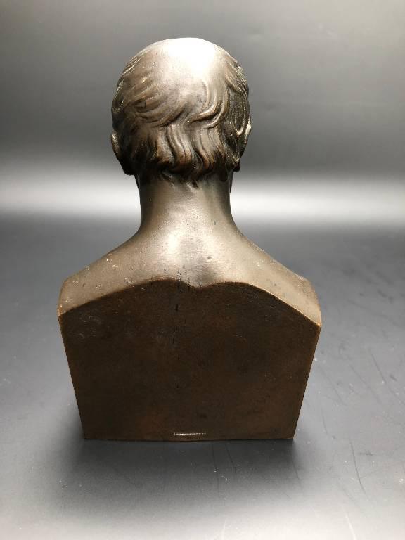 RARE PETIT BUSTE EN BRONZE SIGNÉ CLESINGER BUGNET BARBEDIENNE FONDEUR 1855 | Puces Privées