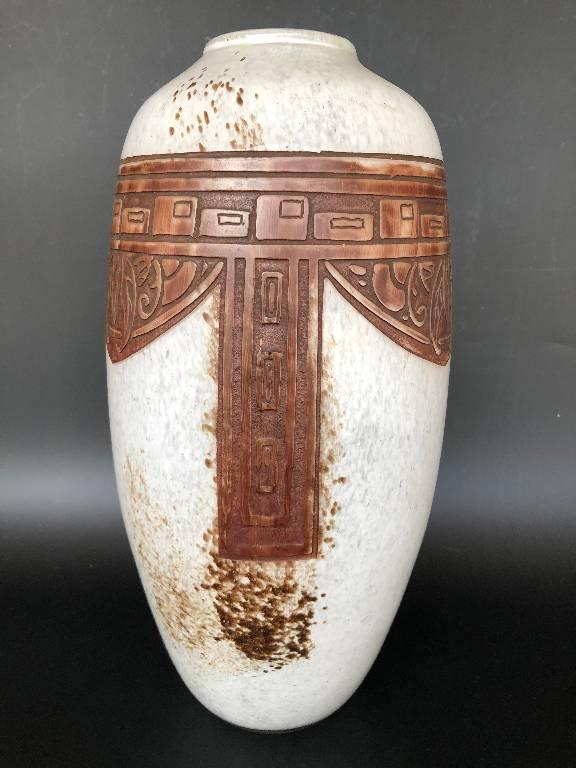 Legras - Important Vase Verre Art Deco   Puces Privées