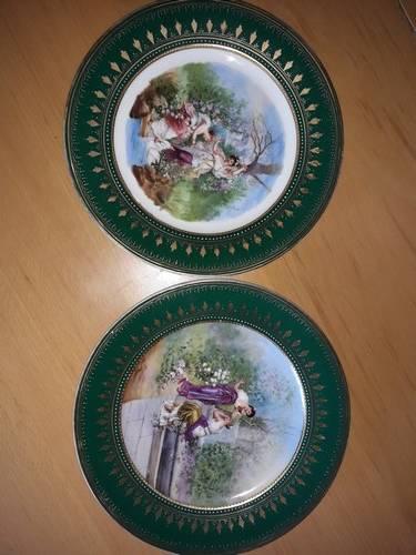 lot de 2 assiettes en porcelaine royal de vienne   Puces Privées