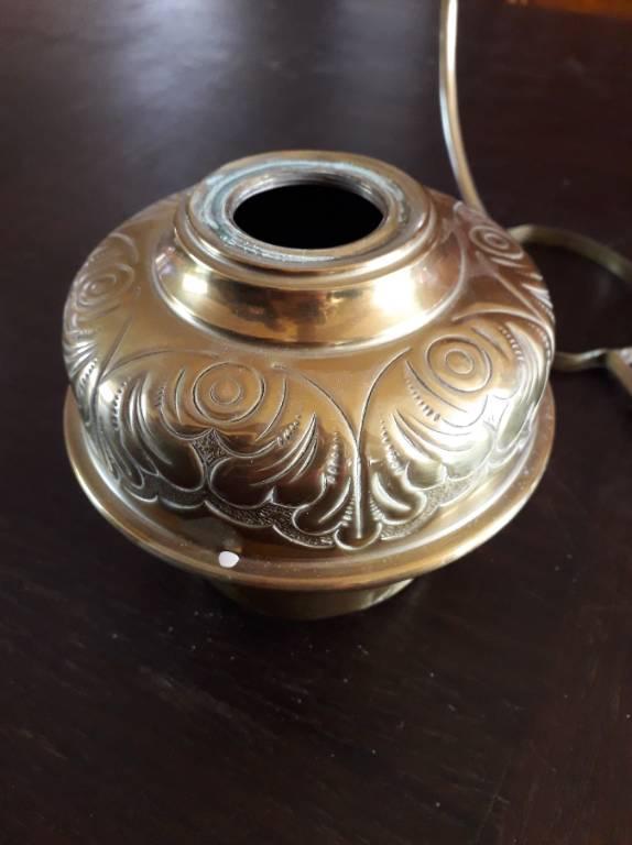 lampe à pétrole avec suspension en cuivre | Puces Privées