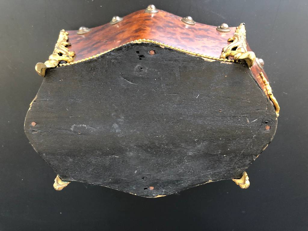 ANCIENNE JARDINIERE PLACAGE DE LOUPE EPOQUE NAPOLEON III 19th | Puces Privées