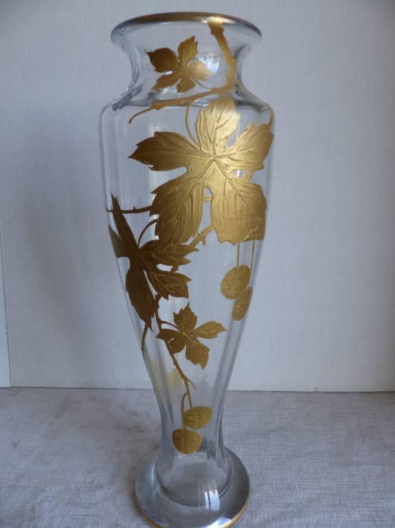 No -429 - Vase en verre soufflé ART NOUVEAU époque 1900 | Puces Privées