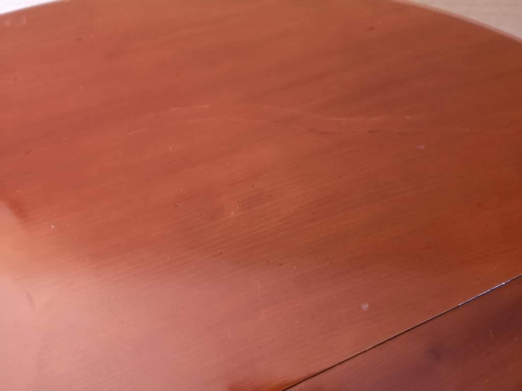 Table à bandeau acajou 6 pieds | Puces Privées