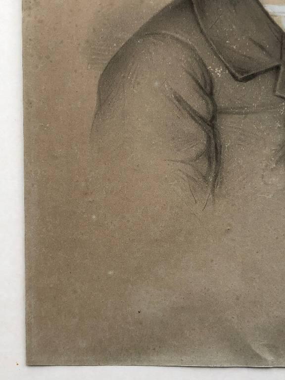 ANCIEN DESSIN PORTRAIT D'ENFANT EPOQUE FIN 19ème SIGNÉ | Puces Privées
