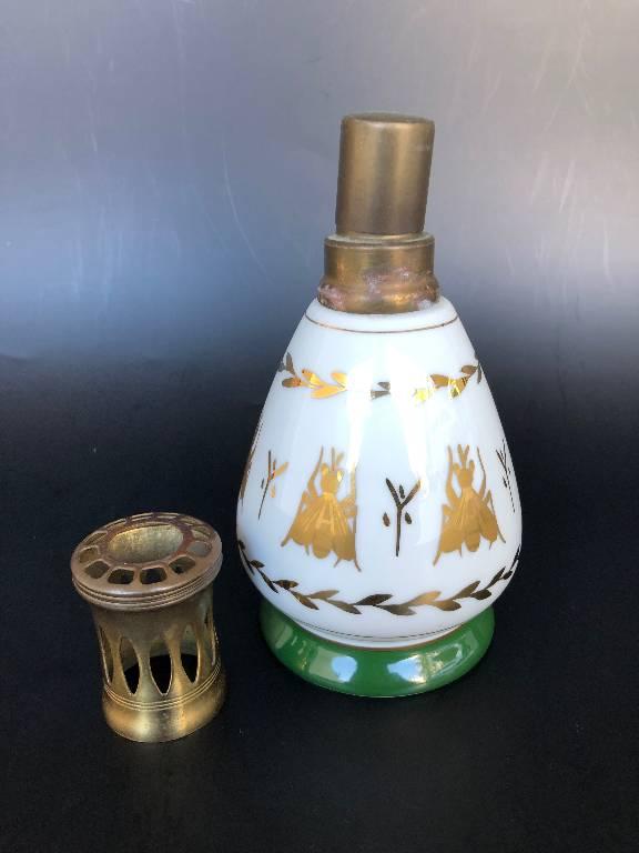 ANCIENNE LAMPE BERGER PORCELAINE COULEUVRE MODELE EMPIRE diffuseur parfum | Puces Privées