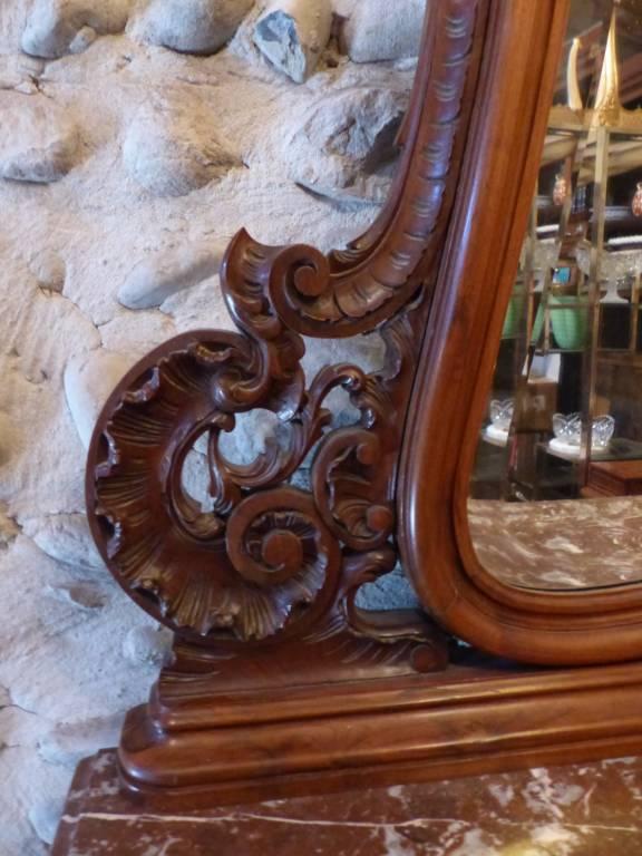 No - 432 - Commode coiffeuse en noyer de style Louis XV époque début 20 ème | Puces Privées