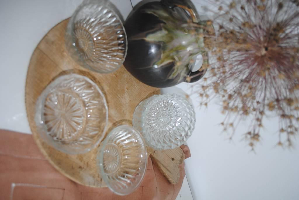 lot de 5 coupelles en verre | Puces Privées