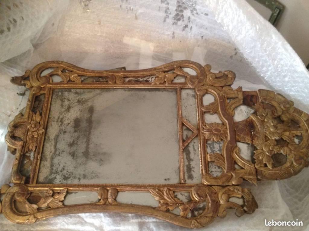 très vielle glace provençal miroir mercure 1mx0,8 | Puces Privées