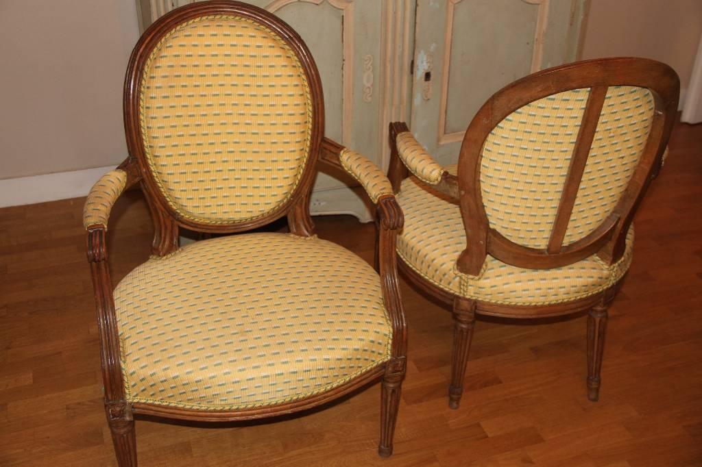 Paire de fauteuil d'origine époque louis XVI   Puces Privées