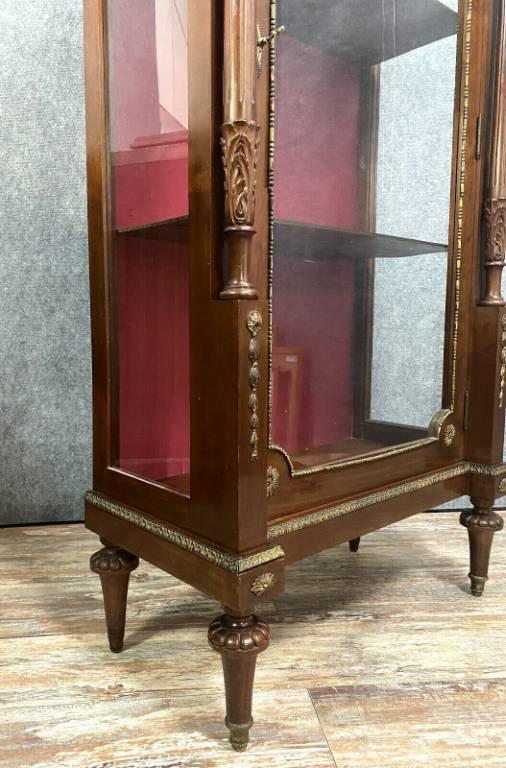 Magnifique bibliothéque vitrine Louis XVI Parisienne en acajou | Puces Privées