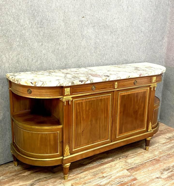 Important buffet en enfilade Louis XVI en acajou  Collection privée La Cloche a Dijon  f | Puces Privées