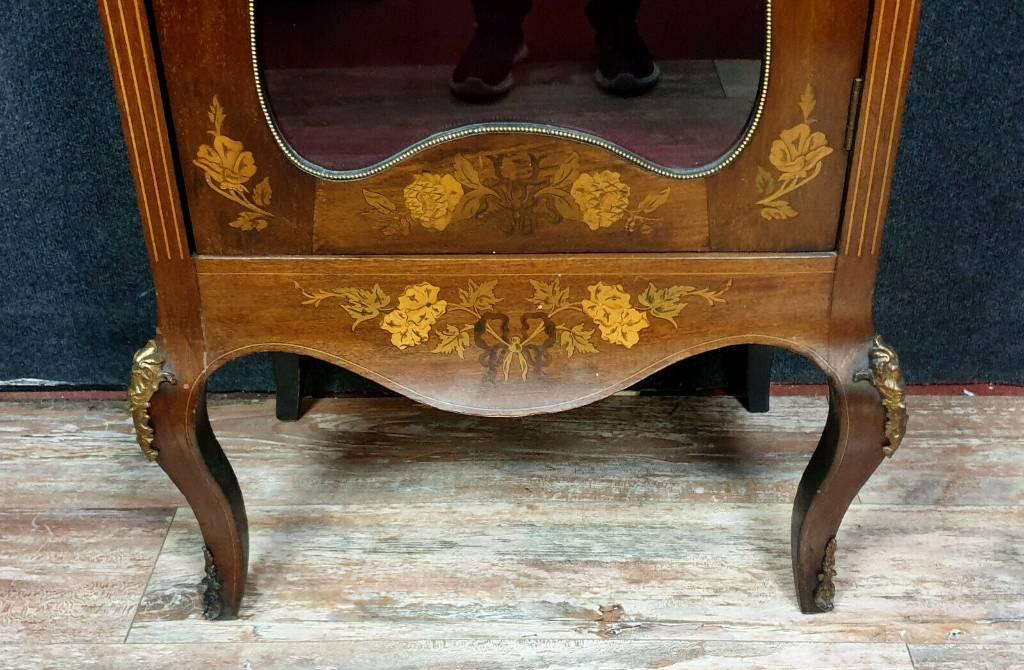 Magnifique bibliothéque d'apparat Louis XV en marqueterie de bois précieux | Puces Privées
