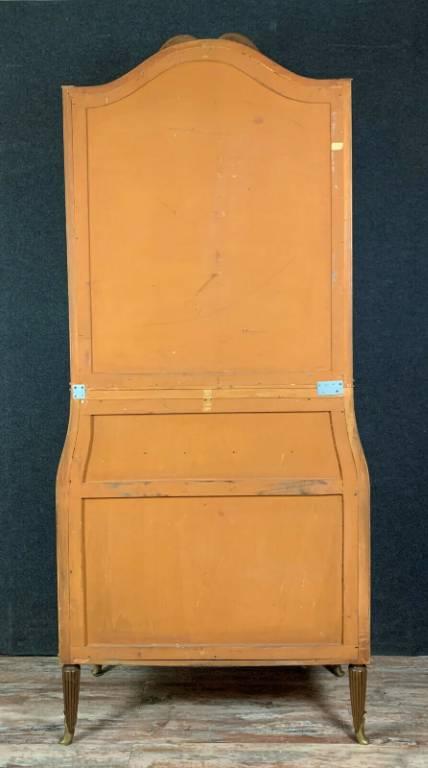 Superbe cabinet époque Napoléon III en marquèterie de noyer vers 1880. | Puces Privées