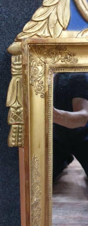 Important miroir Régence en bois doré et bois laqué vers 1880. | Puces Privées