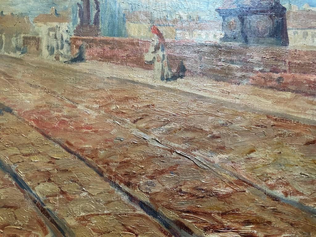 ANCIENNE HUILE SUR TOILE
