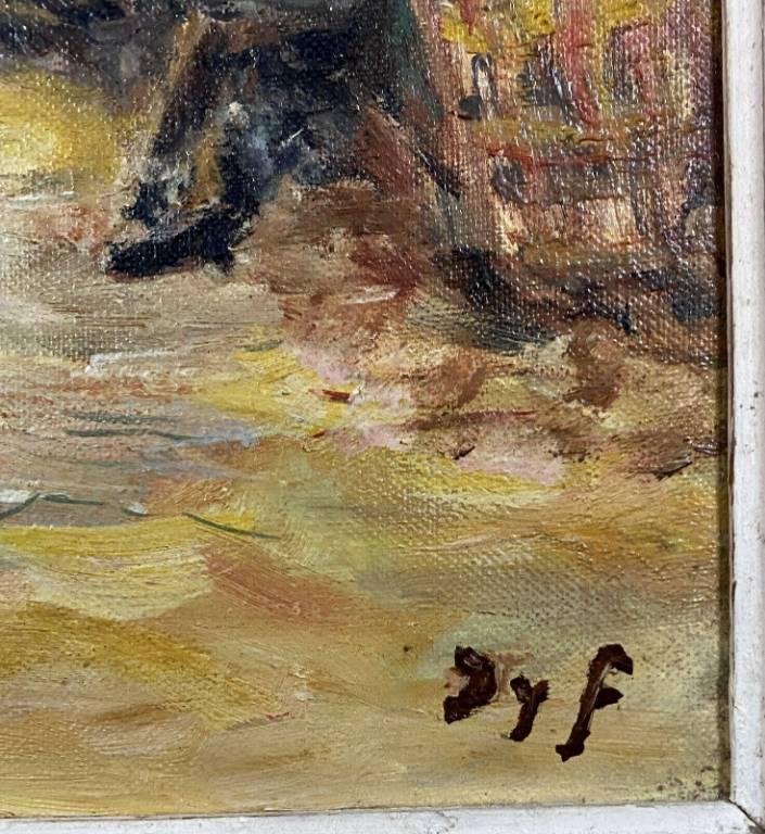 Marcel DYF (1899-1985) 'Le marché aux fleurs sur les Lices à Arles', (1966) huile sur toile   Puces Privées
