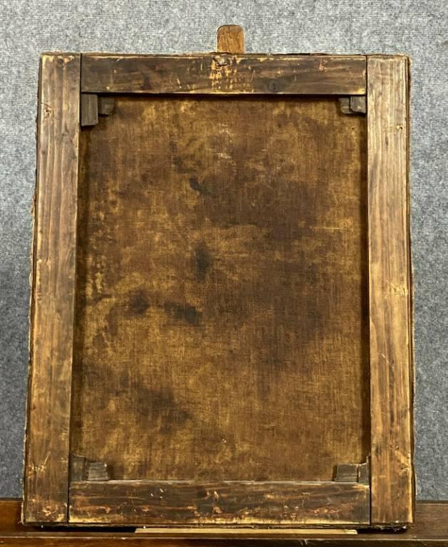 École du Nord XVIIIeme  portrait de femme de qualité vers 1720-1750  huile sur toile | Puces Privées