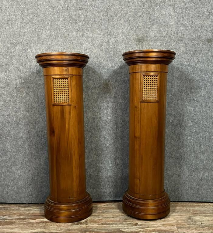 Rare paire de colonnes en gaine Art Déco a usage de piédestal. | Puces Privées