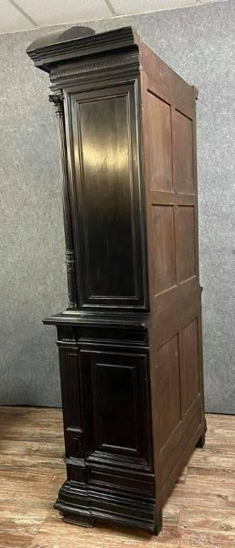 Cabinet bargueno de collectionneur Renaissance en bois noirci et incrustations de nacre vers 1850 | Puces Privées