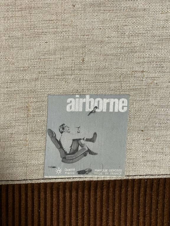 Cadestin Michel  Airborne  Fauteuil, modèle Karaté design vers 1970 | Puces Privées