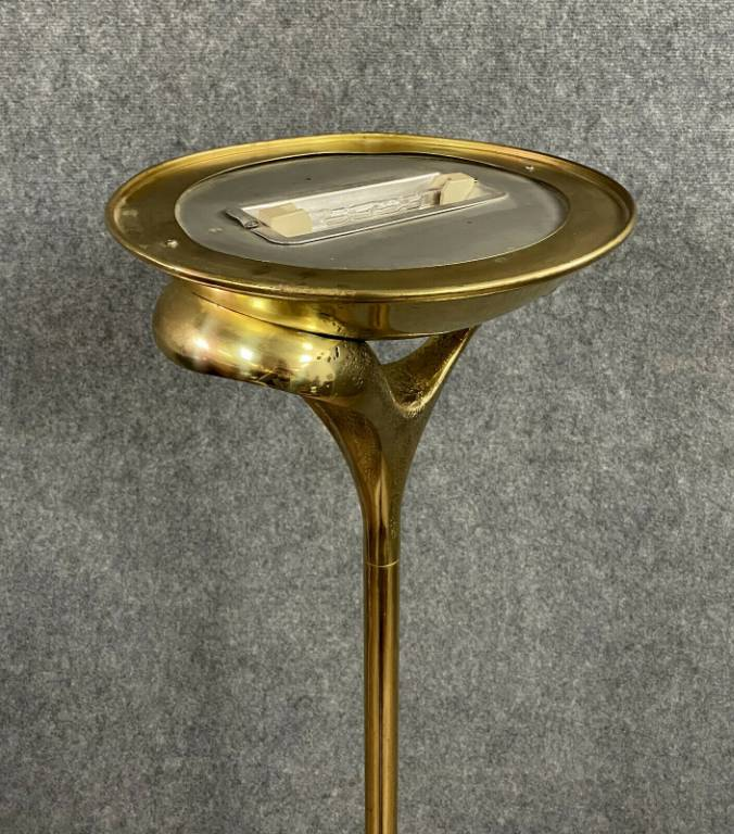 Rare pièce de luxe  Lampadaire en Bronze dorè par MAURO MARZOLLO vers 1975 | Puces Privées