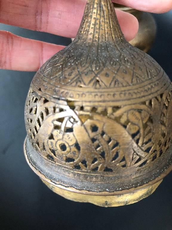 ANCIENNE PAIRE DE BRULE PARFUM TURQUIE SYRIE IRAN OTTOMAN 19th   Puces Privées
