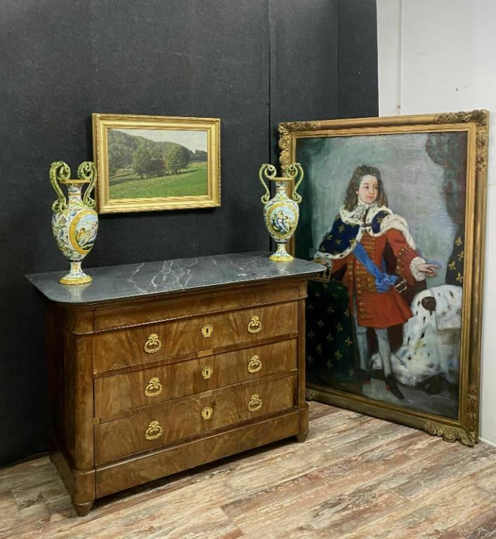 Magnifique commode époque Restauration en acajou vers 1800-1820 | Puces Privées