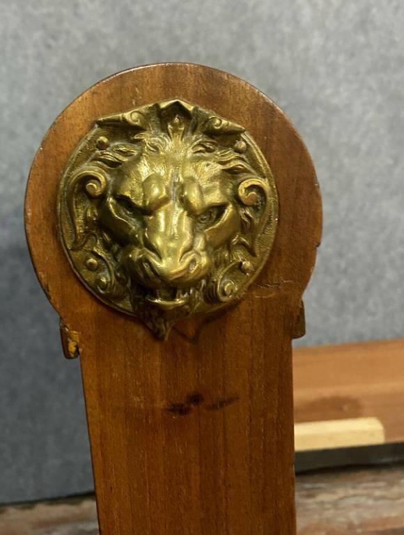 Magnifique et rare lit époque Empire en acajou et bronzes dorés vers 1810   Puces Privées