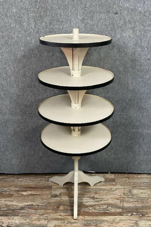 Meuble de restaurant  grand présentoir a desserts époque Art Deco en bois laqué vers 1930   Puces Privées