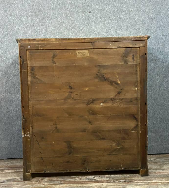 Magnifique secrétaire en bois clair époque Empire  Biedermeier vers 1800.   Puces Privées