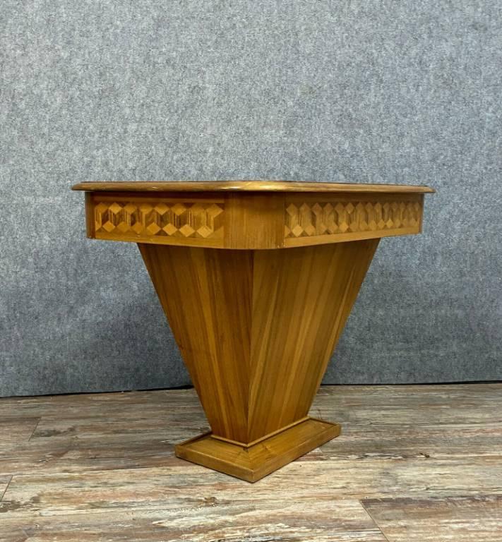 Rare et Superbe table a jeux époque Art Déco en marqueterie de bois Nobles vers 1925   Puces Privées