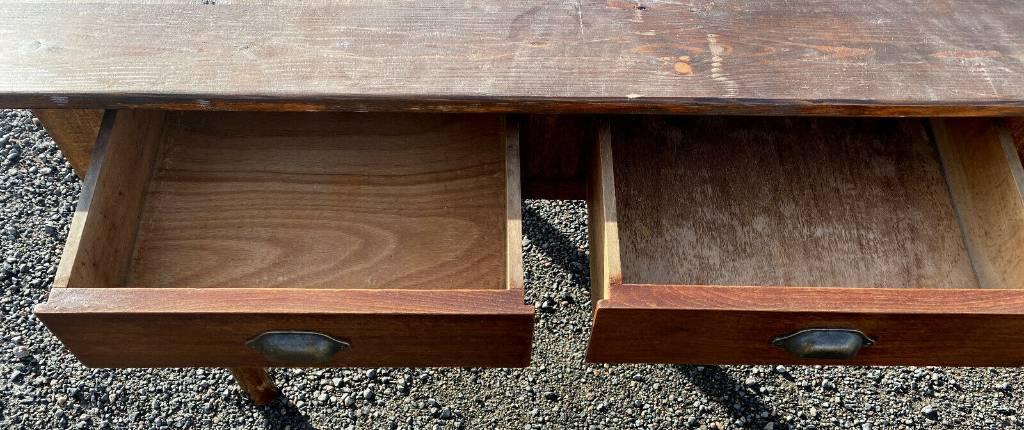 table de communauté (22 a 24 personnes) en bois naturel époque directoire vers 1790-1800 | Puces Privées